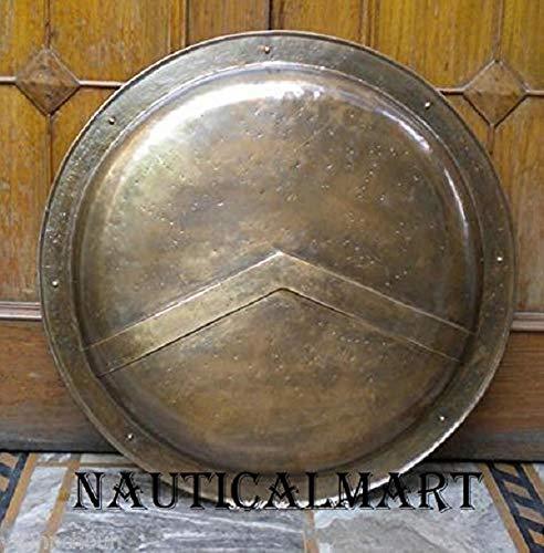UNIQUEWONDERITEMS MAKKO Medieval 300 Spartan Shield Greek King Leonidas Gear of War Armor Shield - King Leonidas Spartan Replica Shield