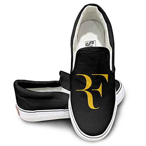 MGTER66 Roger Federer Logo Hot Dance Slip-On Casual Sneaker Unisex Style Color Black Size 37