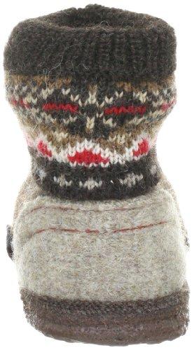 Giesswein Kristiansand 58/10/41523 - Zapatillas de casa de fieltro para niños Marrón