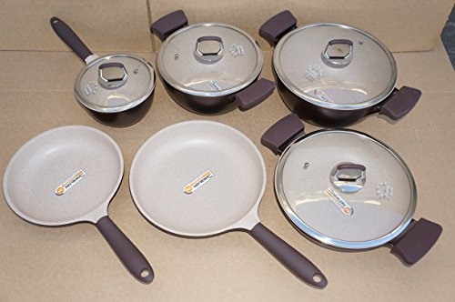 Healthy Legend Third GenerationNon-stick German Weilburger Ceramic Coating Cookware Set(Pack of 10)