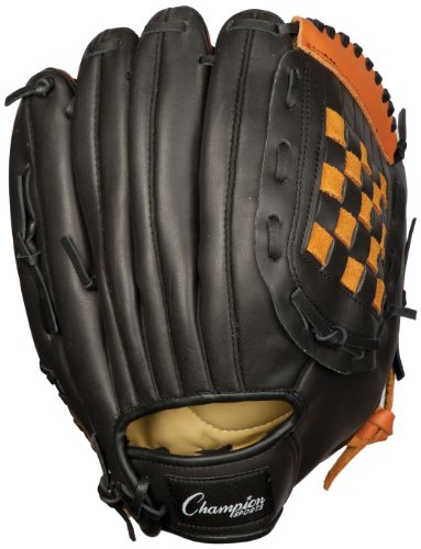 Champion Sports Leather Front Fielder's Glove (Left-Handed, - Champion Baseball Leather