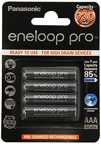 Panasonic Eneloop pro AAA Ready-to-Use Micro NI-MH Akku BK-4HCDE/4BE (930 mAh, 4er Pack) mit extrastarker Leistung