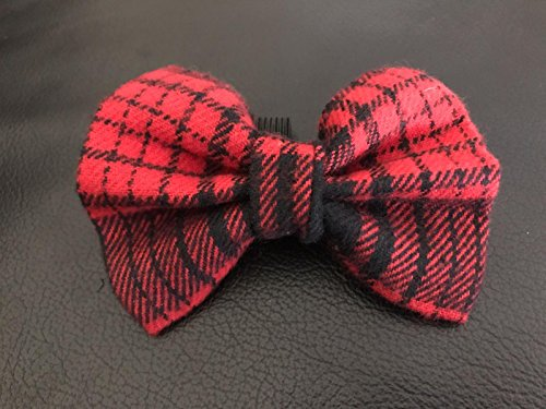 Dog Bow Tie in Red and Black Plaid Southern Rustic Lumberjack Tartan Checkered Winter or Fall Dog Fashion
