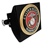 US Marine Corps Seal Trailer Hitch Cover with Pin Included (Officially Licensed)