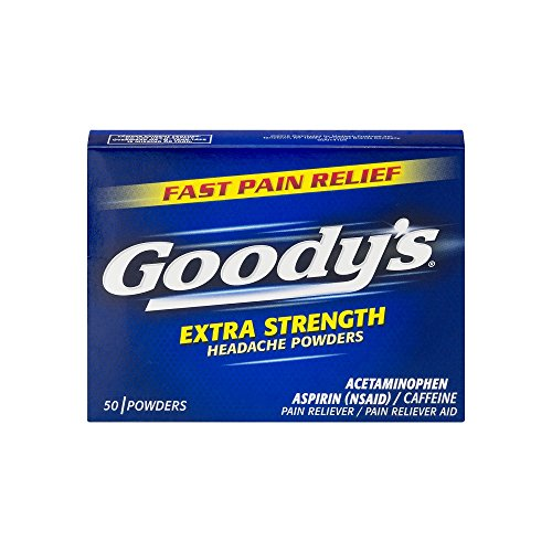 Goodys Extra Strength Headache Powder - Goody's Extra Strength Headache Powders - Acetaminophen, Asprin, & Caffeine Quickly Relieve Pain Due to Headaches, Body Aches, and Fever - 50 Powders