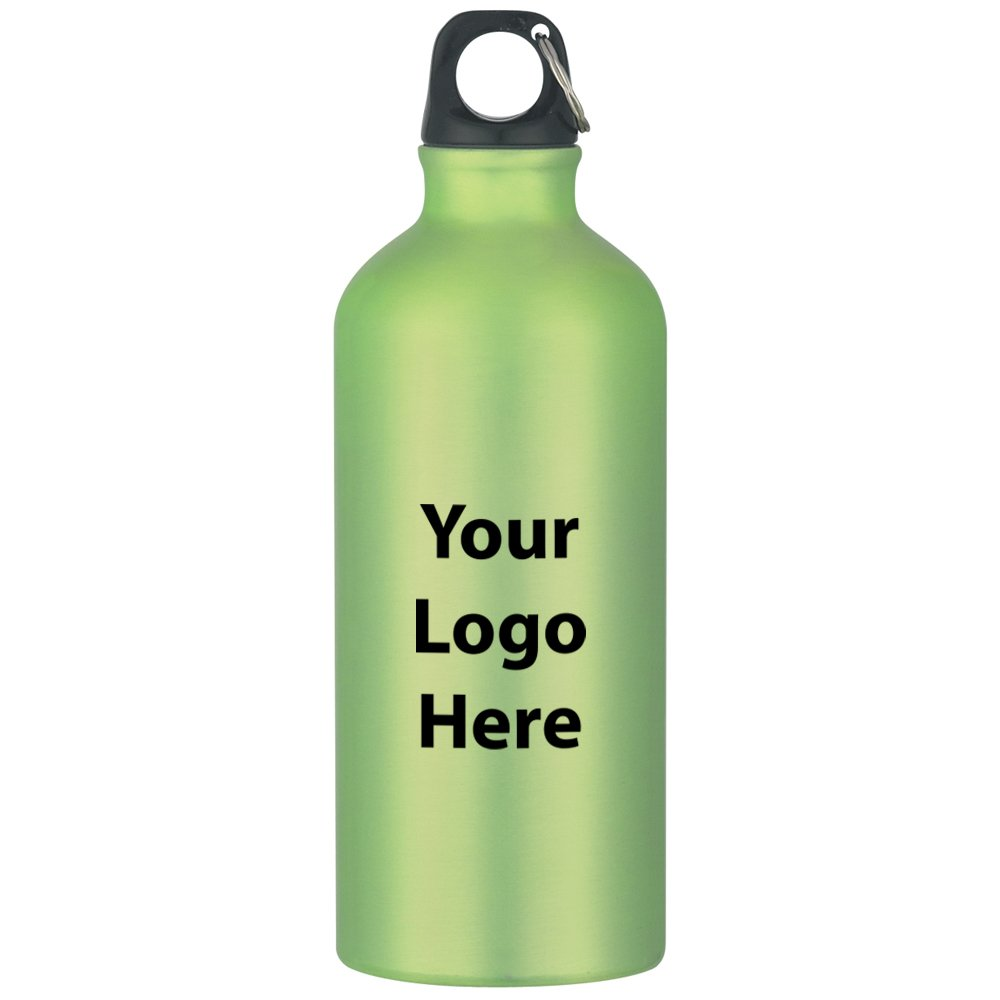 "20 Oz. Aluminum Bike Bottle - 36 Quantity - $3.49 Each - PROMOTIONAL PRODUCT / BULK / BRANDED with YOUR LOGO / CUSTOMIZED. Size: 8-1/4""H."