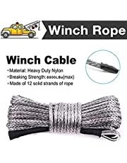 """Synthetic Winch Rope 1/4"""" x 50' 7800lbs Durable Winch Cable ATV Winch Rope for SUV UTV ATV Winches Truck Boat"""