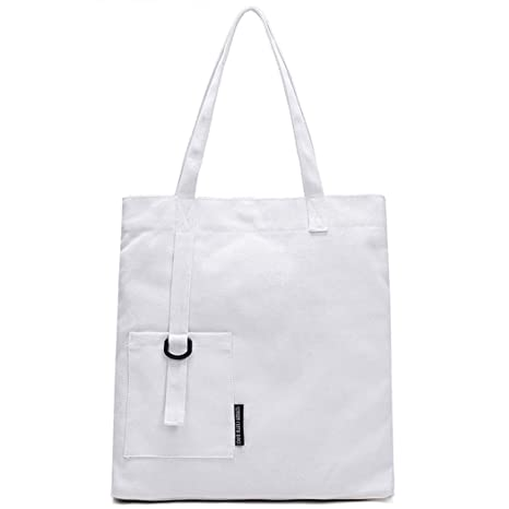 cbb7fc2e9 Amazon.com: Fanspack Women's Canvas Tote Bag Simple Casual Top Handle Hobo  Bag Shoulder Bag Purse: Fanspack Direct