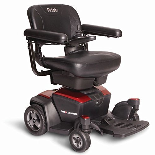 New GO CHAIR Pride Mobility Travel Electric Powerchair + 18AH batteries upgrade (Ruby Red)
