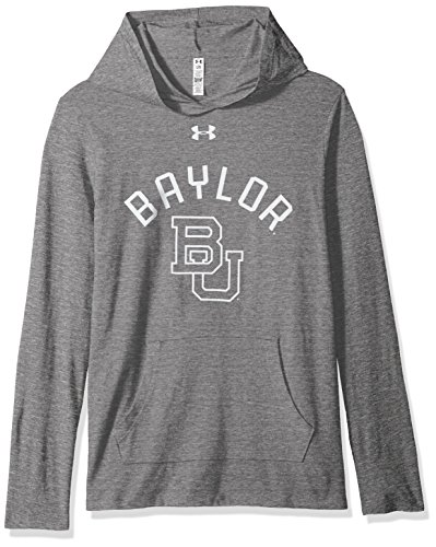 Under Armour NCAA Baylor Bears Women's Long Sleeve Hooded Tee, Small, Gray