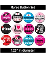 NURSING BUTTONS (set #3) pins badges cute gifts nurse jewelry supplies medical new