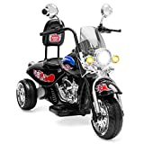 Best Choice Products 12V Kids Ride-On Motorcycle Chopper w/Built-In Music, MP3 Plug-In - Black