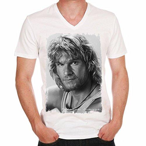 Patrick Swayze Blond Point Break Movie Men's T-shirt Celebrity Star ONE IN THE CITY