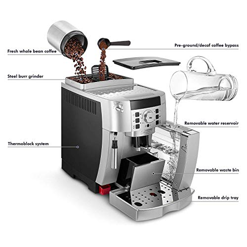 DeLonghi ECAM22110SB Compact Automatic Cappuccino, Latte and Espresso Machine (Renewed) by DeLonghi (Image #3)