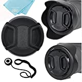 Big Mike's 55mm Reversible Tulip Flower Lens Hood and Lens Cap Kit for Sony Alpha a7, Alpha a7 II, Alpha a7 III Digital Camera with 28-70mm Lens