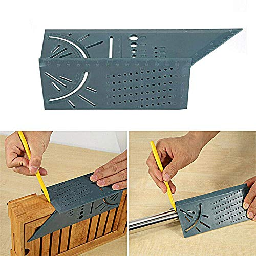 - Hamkaw 3D Mitre Angle Measuring Square Size Measure Tool with Gauge Ruler