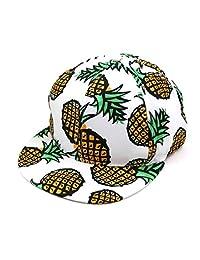 Lavany Women's Men Hats,Snapback Cotton Pineapple Baseball Caps Flat Hip-hop Hat