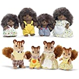 Calico Critters Pickleweeds Hedgehog Family and Hazelnut Chipmunk Family