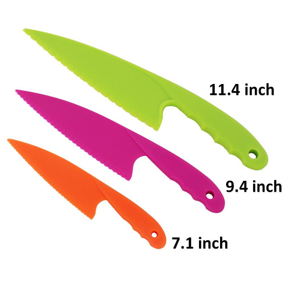 Smallones 3 piezas cuchillo de cocina niños vistoso seguro ...
