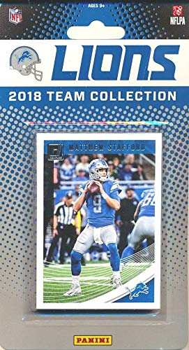 (Detroit Lions 2018 Donruss NFL Football Factory Sealed Limited Edition 12 Card Complete Team Set Matthew Stafford, Golden Tate III, LeGarrett Blount, Kerryon Johnson RC & Many More! WOWZZER! )