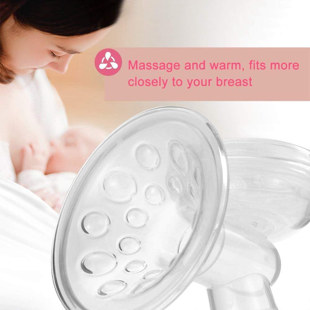 BPA-frei Decdeal Elektrische Milchpumpe Einzelmilchpumpe Brustpumpe mit 9 Massage /& Saugstufen Anti-R/ückfluss-Design