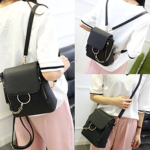 Leather Women Olyphy Fashion Shoulder for Backpack Gray Designer Backpack Mini Bag Chain qxUnUTgf5