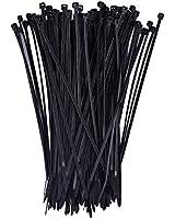 eBoot 100 Pack Self-locking 8 Inch Nylon Cable Ties, Black