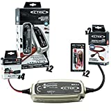 CTEK (56-864) MUS 4.3 12 Volt Battery Charger and Garage Kit