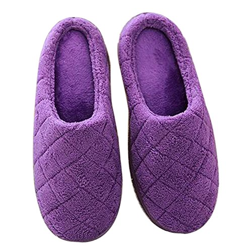 Fleece Slippers Indoor Foam slippers Ishowstore indoor winter Memory grid warm Coral slippers 5pqw561X