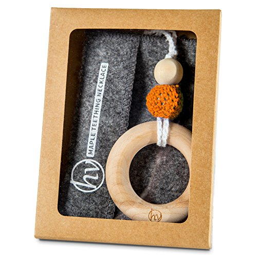 Wood Teething Ring Necklace Babywearing product image
