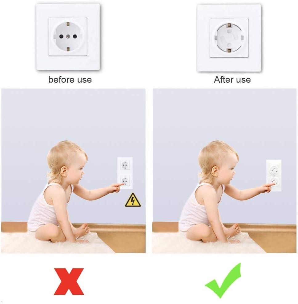 Kindersicherung f/ür Steckdose mit Drehmechanik Steckdosensicherung Steckdosenschutz f/ür Baby und Kinder Kindersicherheit 20PCS