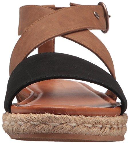Roxy Women's Raysa Wedge Sandal Black/Tan visa payment sale online footlocker outlet cheap price perfect online E6Te5D