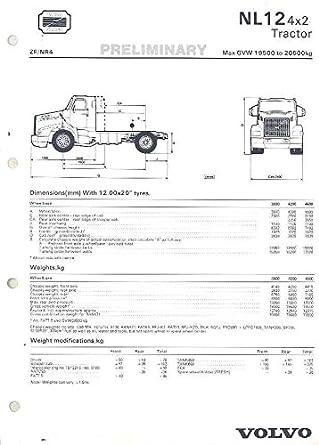 Amazon Com 1989 Volvo Nl12 4x2 Tractor 20500kg Truck Brochure