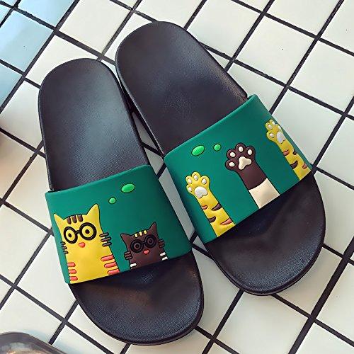home verde bagno 41 matura pantofole interno fankou slittamento S estate cool cartoon 40 uomini anti uomini Pantofole soggiorno e donne bagno grazioso con Rn6w0qBn