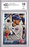 2015 Topps Baseball #616 Kris Bryant Rookie Card Graded BCCG 10