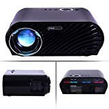 Pyle PRJLE64 Compact Color Pro Digital Projector HD 1080p Support Built-in Speakers HDMI/USB/VGA Black