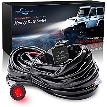 51s2N0FScdL._SL500_AC_SS350_ amazon com mictuning hd 300w led light bar wiring harness fuse 40 Custom LED Light Strips at crackthecode.co