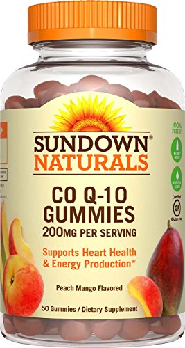 Sundown Naturals Co Q-10 200 mg, 50 Gummies