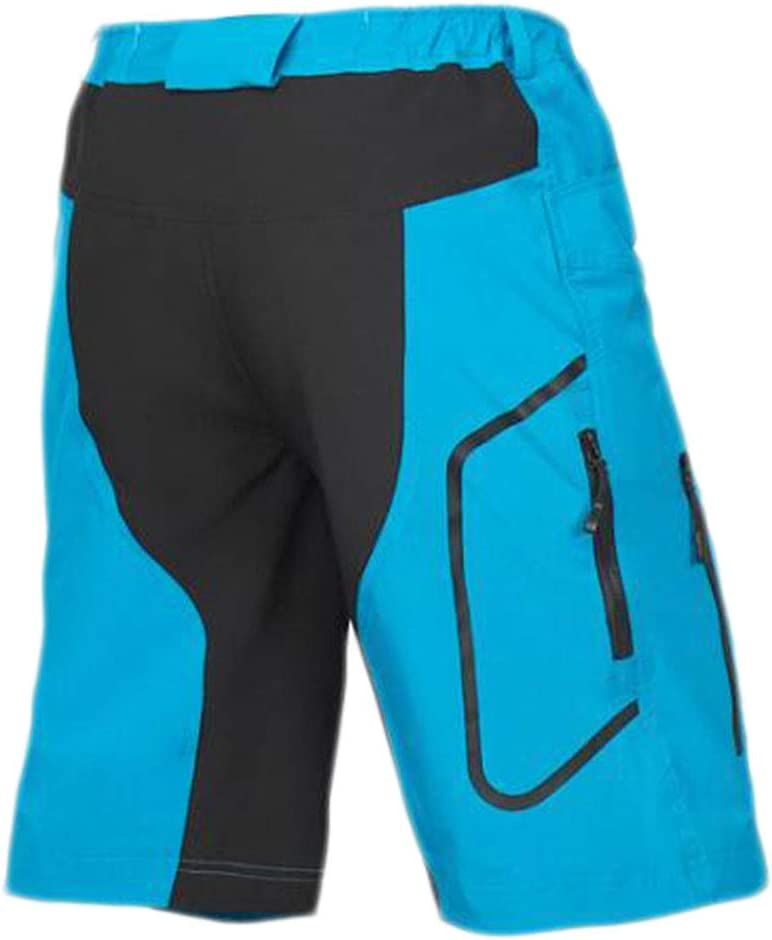 ZSZKFZ Pantalon VTT Homme Pantalon De V/élo Color : Blue, Size : S Pantalon De V/élo Respirant Short VTT /À S/échage Rapide Short De V/élo Baggy Montagne Homme
