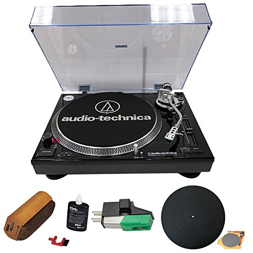 Audio Technica Professional Stereo Turntable W Usb Lp To Dig Recording Piano Black  At Lp120bk Usb    Record Cleaning Fluid System   Dual Magnet Phono Cartridge   Universal Turntable Platter Mat