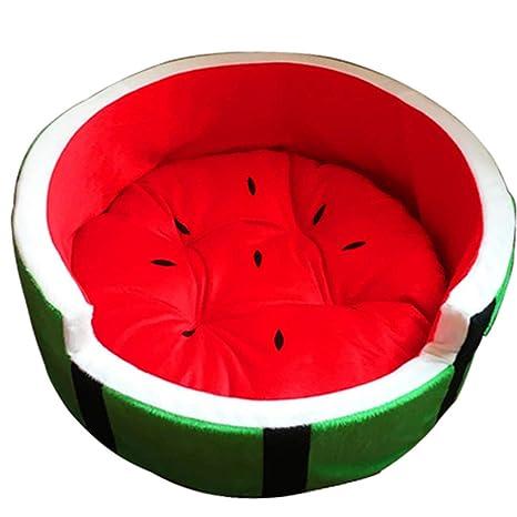 Camas De Mascotas, Forma De Sandía Cómoda Sofl Caliente Dormir Cama Invierno Indoor FITS Pequeño
