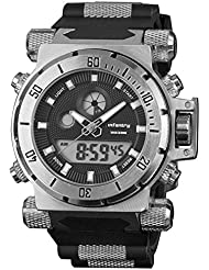 INFANTRY 50mm Big Face Mens Military Tactical Watch Large Digital Sport Watches for Men Heavy Duty