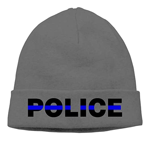 Jay94 Unisex Blue Thin Line Police Winter Beanie Hat Skull Cap at ... f44bf437715