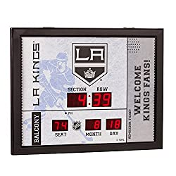 Evergreen NHL Los Angeles Kings 14X19 Scoreboard, Team Colors, One Size