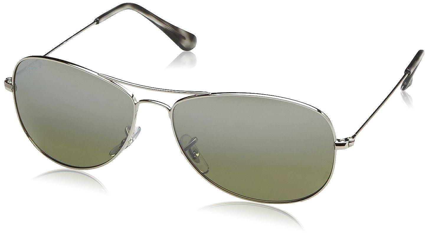 ba2df9a05 Amazon.com: Ray-Ban RB3562 Chromance Mirrored Aviator Sunglasses, Matte Gold /Polarized Blue Mirror, 59 mm: Clothing