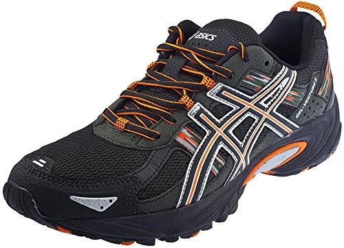 ASICS Men's Gel Venture 5 Running Shoe (10 D(M) US, Black/Shocking Orange/Duffel Bag) (Asics Running Shoes Trail Men)