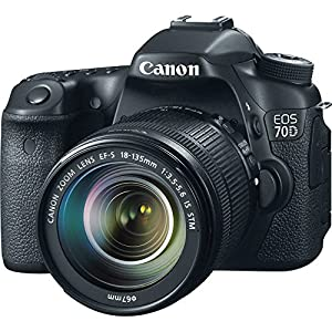 Canon EOS 70D DSLR Camera with 18-135mm f/3.5-5.6 STM Lens and Built-in Wi-Fi (Certified Refurbished)