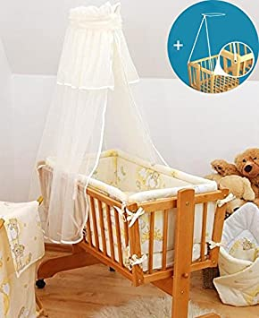 Baby Canopy// Drape for Rocking Crib// Swinging Crib Moses Basket White Cradle