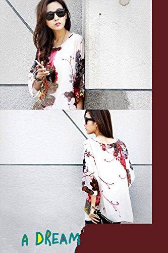 Manica Plus OKSakady per Tunica 4 Shirt 27 Doman Chiffon 3 Batwing Boho T Donne Size rvCw7Wgqdr