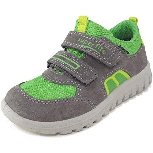 Superfit - Zapatillas de Piel para niño gris gris grau/lime (stone multi)